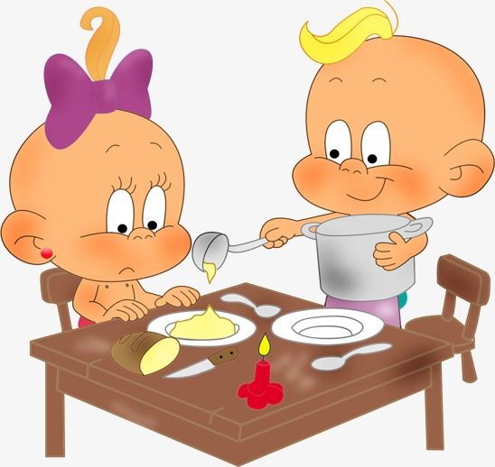 have lunch, Child, Cartoon Child, Baby PNG Image and Clipart - Have A Baby PNG
