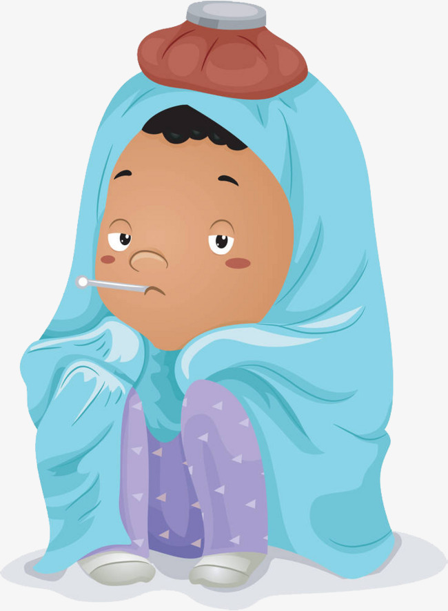 illustration baby fever, cold, Cartoon Illustration, Have A Fever, Cold PNG  Image - Have A Baby PNG