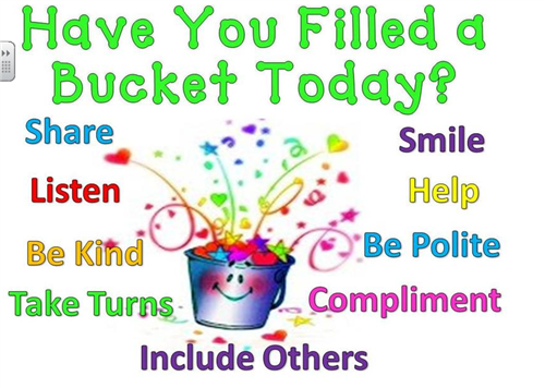 have you filled a bucket today pdf - Google Search - Have You Filled A Bucket Today PNG