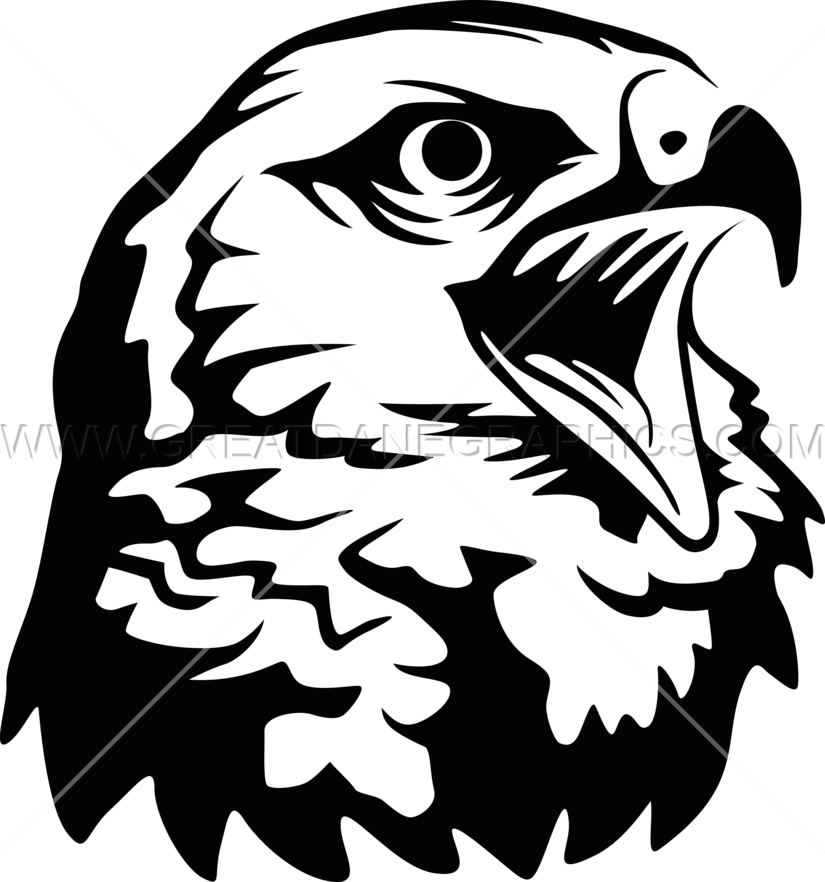 Screaming Hawk - Hawk PNG Black And White