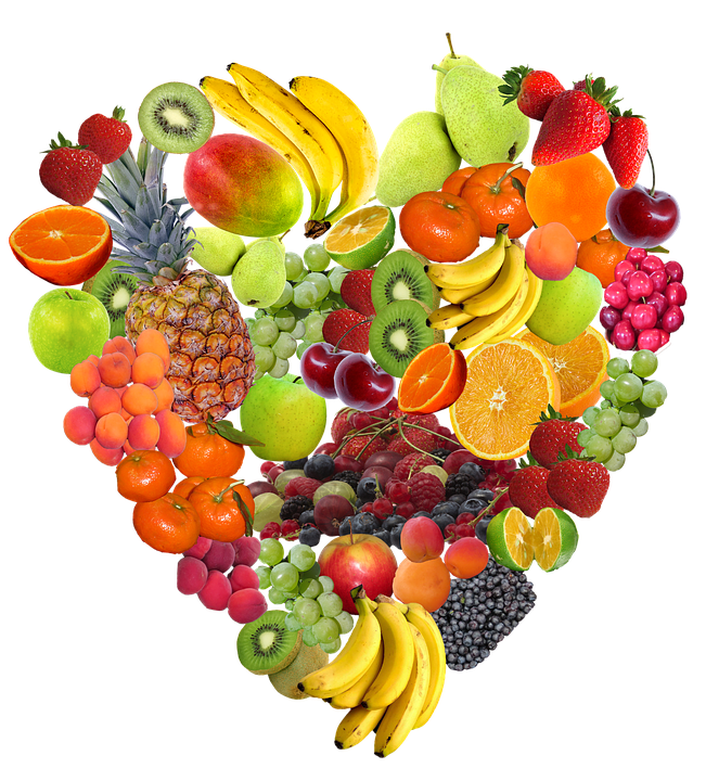 Heart, Fruit, Isolated, Healthy, Eat, Fruits, Vitamins - Healthy Food PNG HD