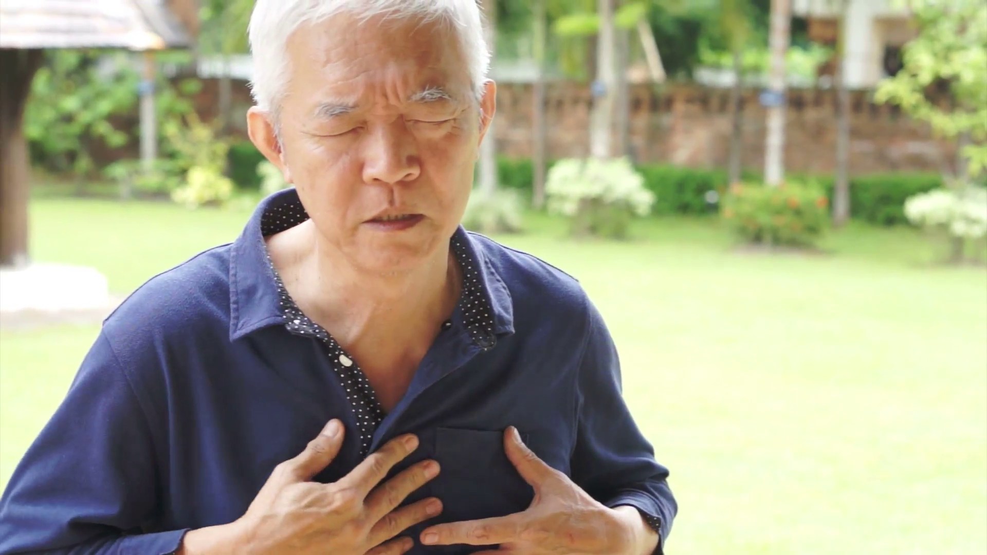 Senior Asian man having heart attack, chest pain Stock Video Footage -  VideoBlocks - Heart Attack PNG HD