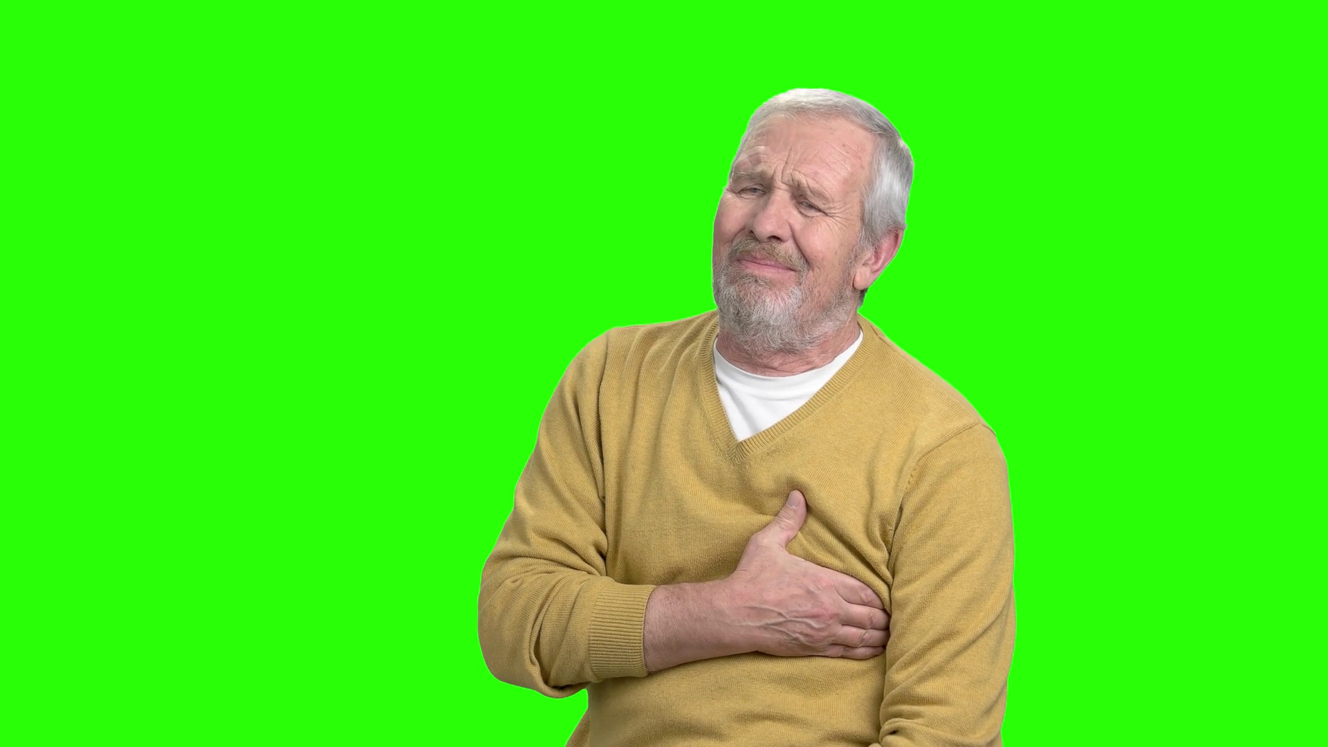 Senior man having heart attack. Older man holds his chest as he suffers  from a heart attack, chroma key background. Stock Video Footage -  VideoBlocks - Heart Attack PNG HD