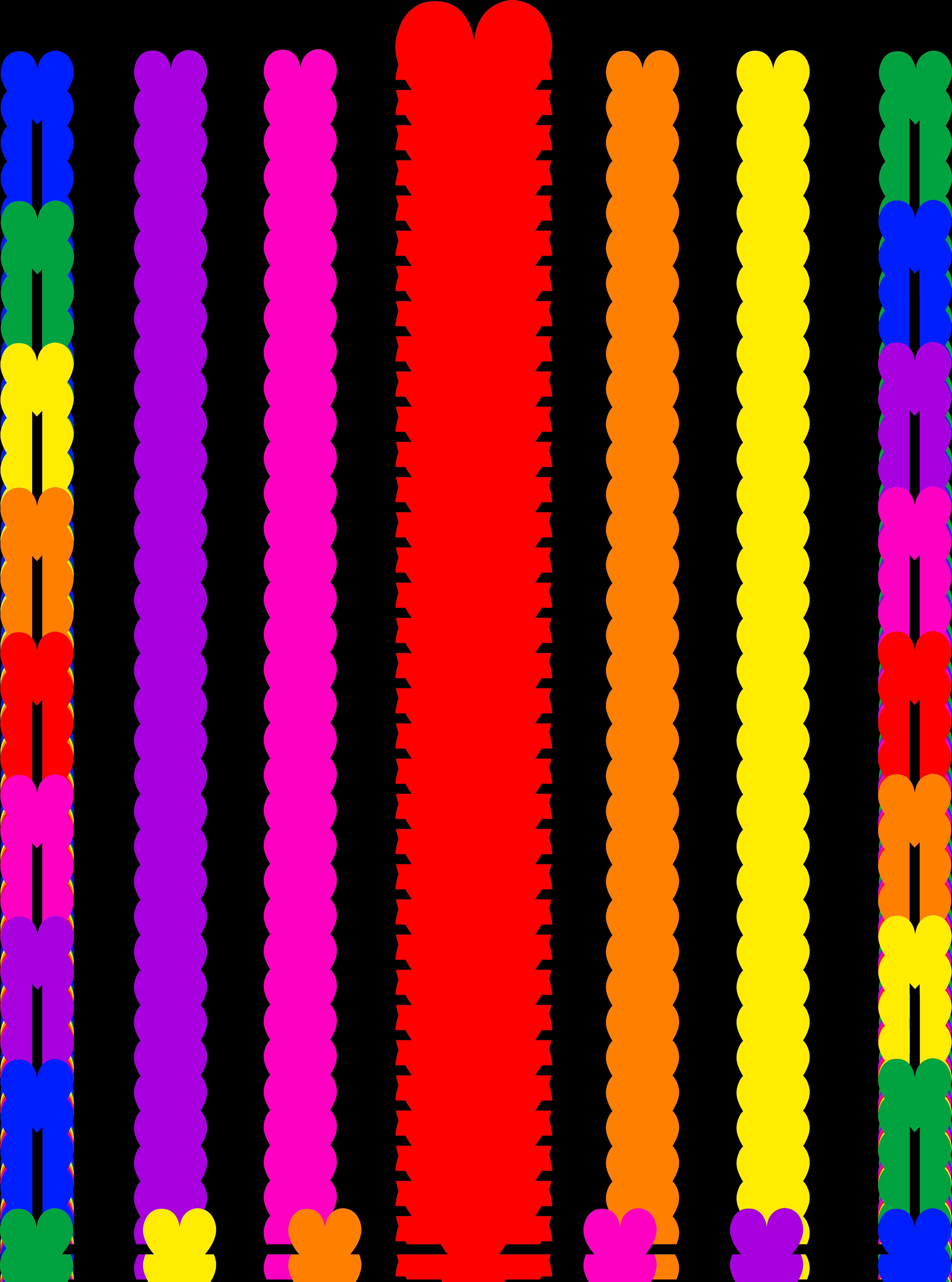 borders and frames clip art | Rainbow Hearts Border Frame - Free Clip Art - Heart Border PNG HD