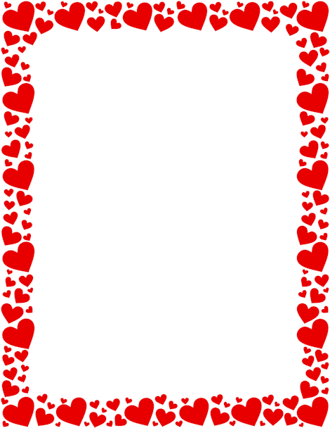 Heart page Border Designs for
