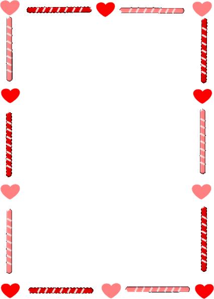 heart border heart and candy border clip art at clker vector clip art  science clipart - - Heart Border PNG HD
