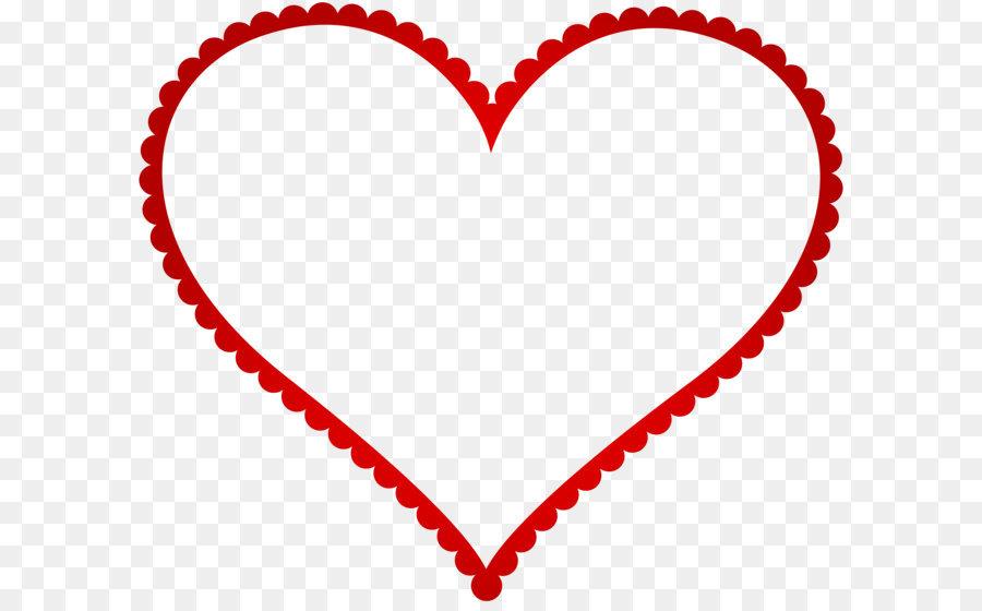 Heart Picture frame Clip art - Red Heart Border Frame Transparent PNG Clip  Art - Heart Border PNG HD