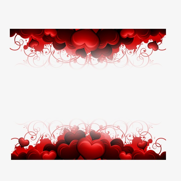 Hearts border, Red, Heart Shaped, Frame PNG and PSD - Heart Border PNG HD
