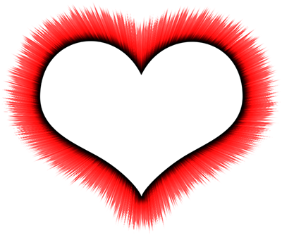 Red Border Frame PNG HD - Heart Border PNG HD