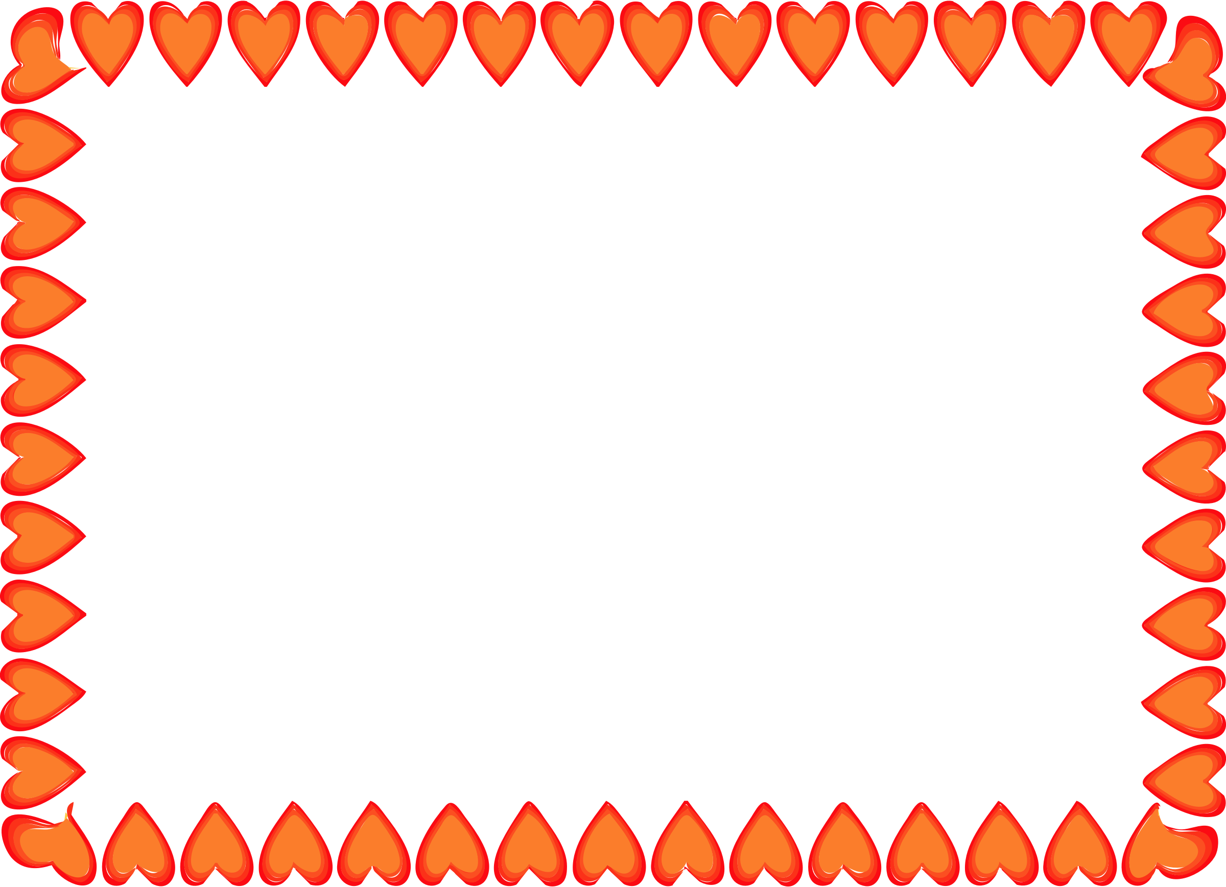 This free Icons Png design of Red Hearts Border PlusPng.com  - Heart Border PNG HD