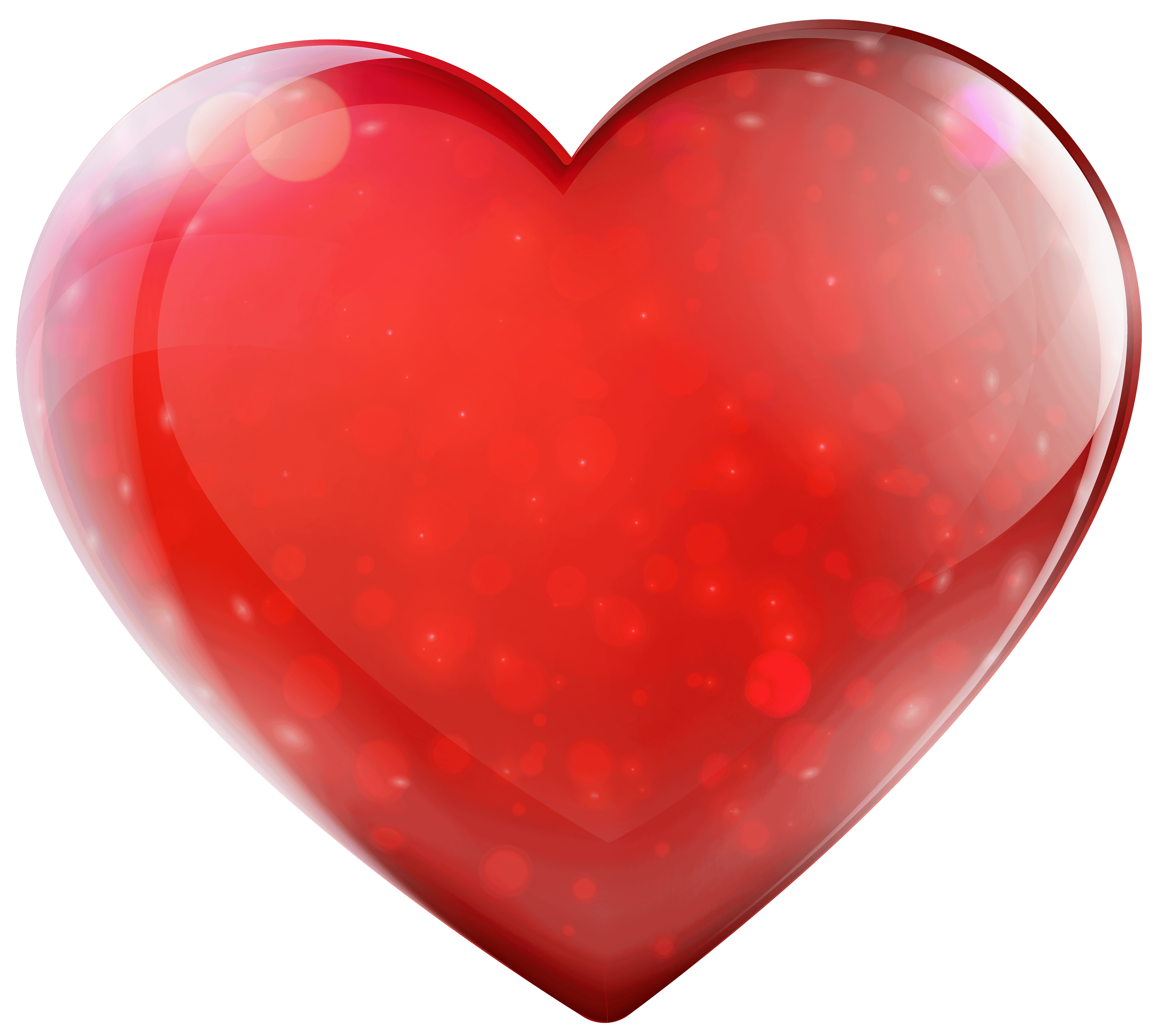 Glassy Heart PNG clipart