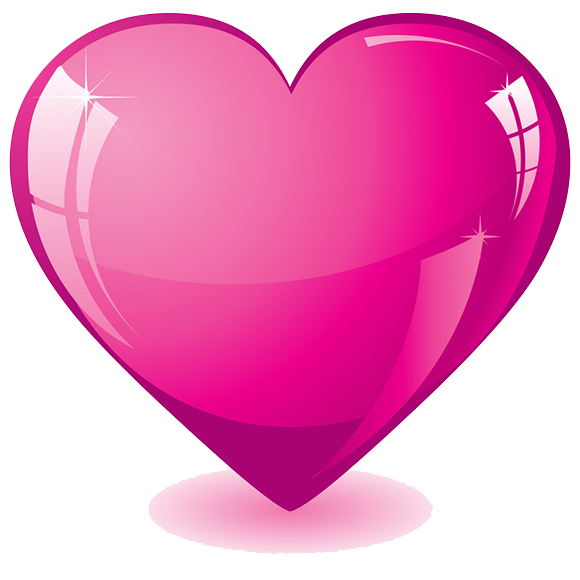 Hot Pink Heart Transparent Background - Heart PNG HD Transparent Background