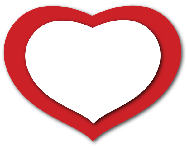 Transparent Red and White Heart PNG Clipart - Heart PNG HD Transparent Background