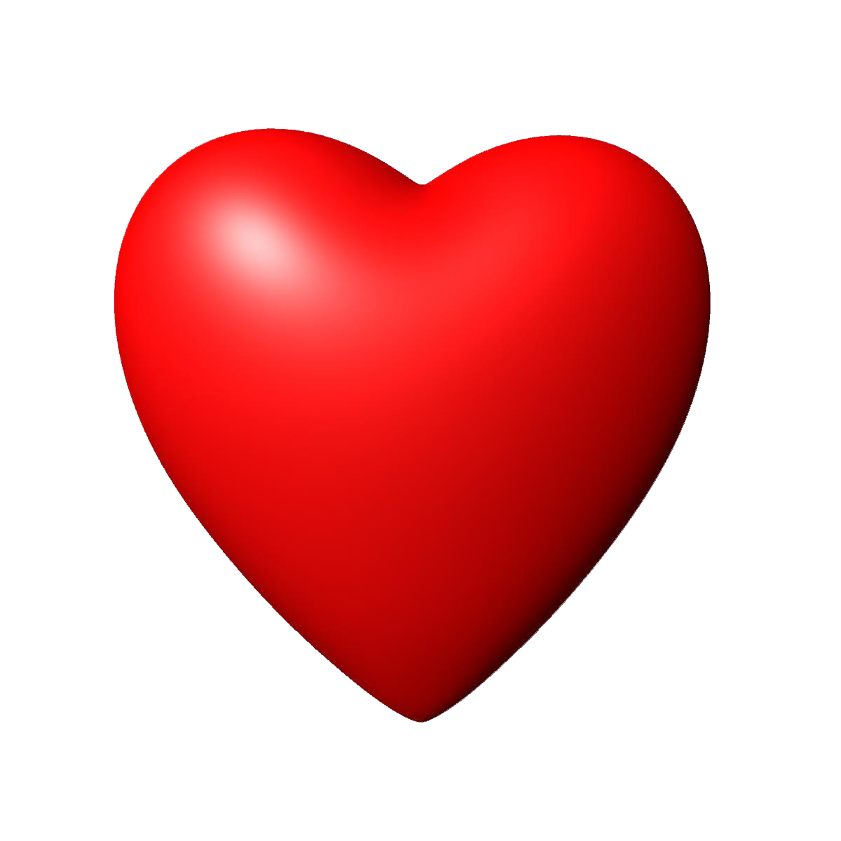 Red heart PNG image, free dow