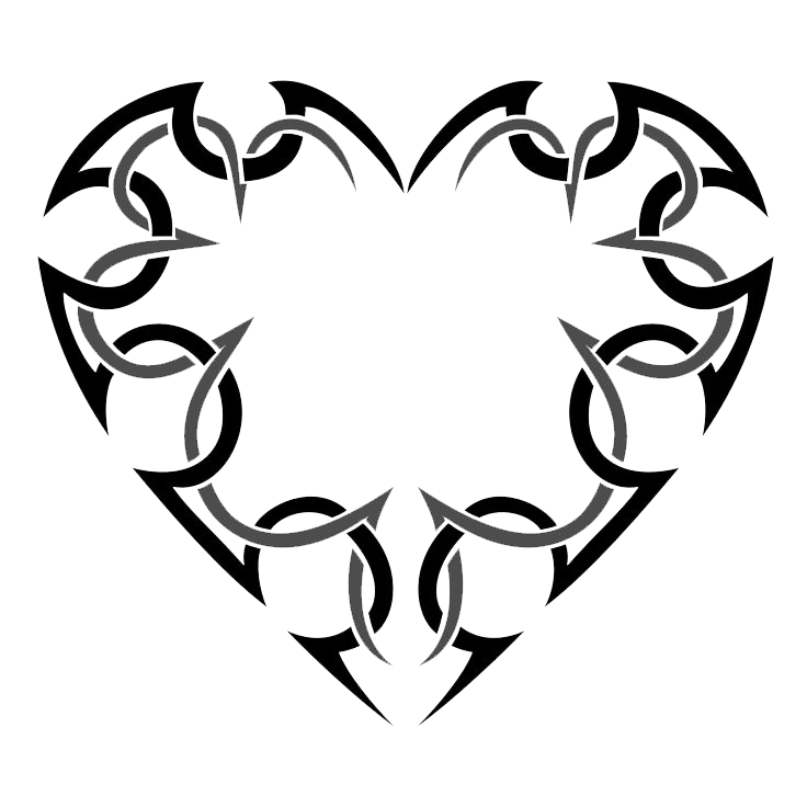 . PlusPng.com Heart Tattoo Transparent 13 Heart Tattoos.png PlusPng.com  - Heart Tattoos PNG