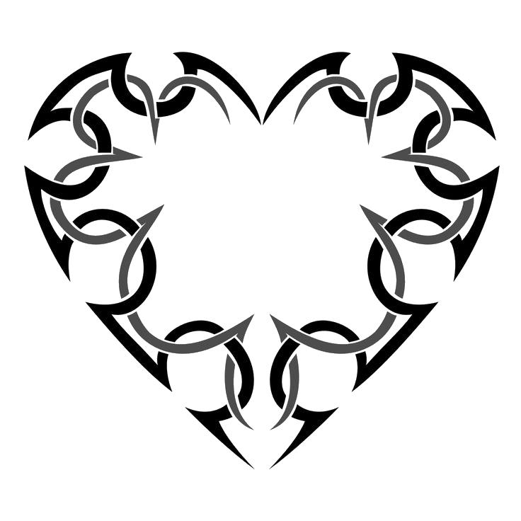. PlusPng.com Heart Tattoo Transparent 13 Heart Tattoos.png PlusPng.com  - Heart Tattoos PNG