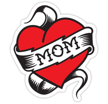 I Love Mom Heart Tattoo PNG - Heart Tattoos PNG