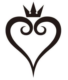 kingdom_hearts_logo_by_edenco_arts-d5242v3.png (263×311) - Heart Tattoos PNG