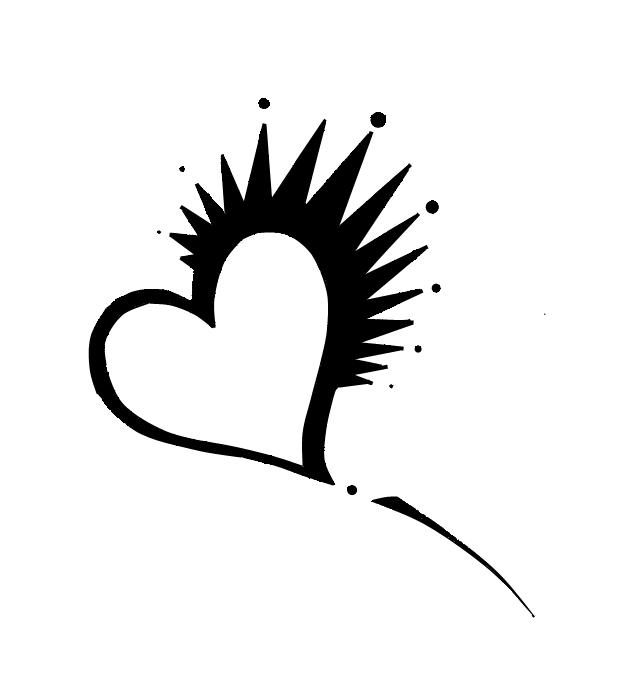 Spiked Heart Tattoo by RedStarRainbow PlusPng.com  - Heart Tattoos PNG