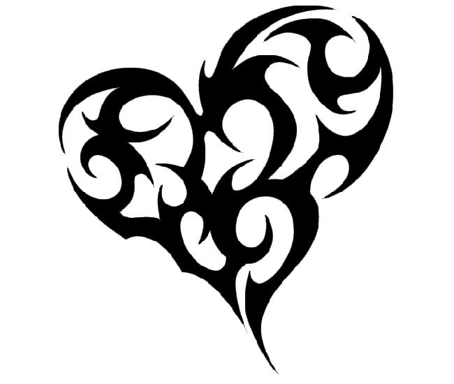 Tribal Tattoo Designs | Large Tribal Heart Tattoo | Tattoo Tabatha - Heart Tattoos PNG