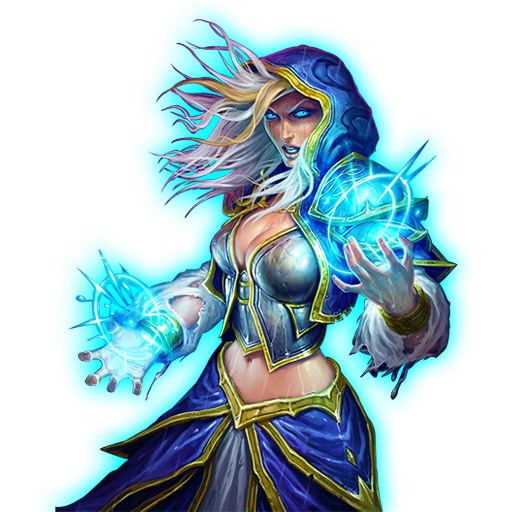 Hereu0027s some icons of Jaina - Hearthstone PNG
