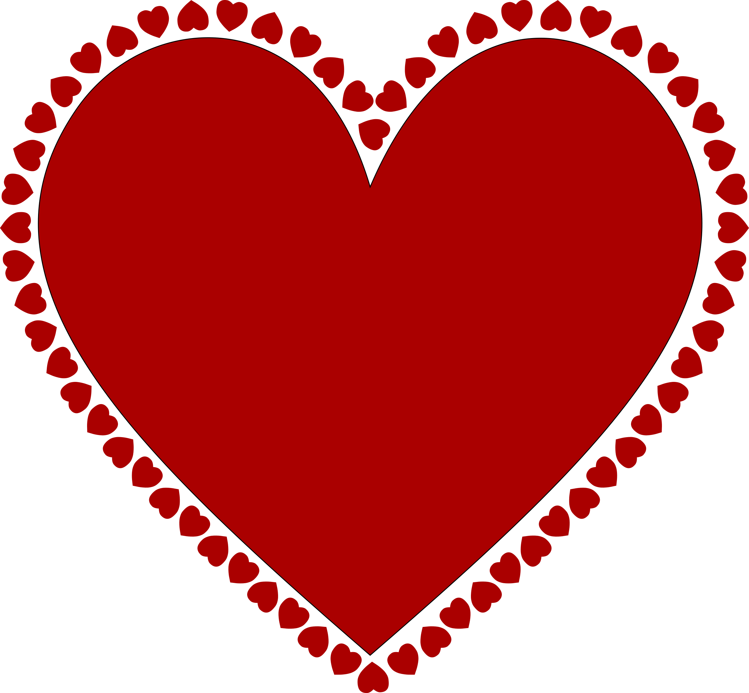 This free Icons Png design of Frame of hearts PlusPng.com  - Hearts PNG HD