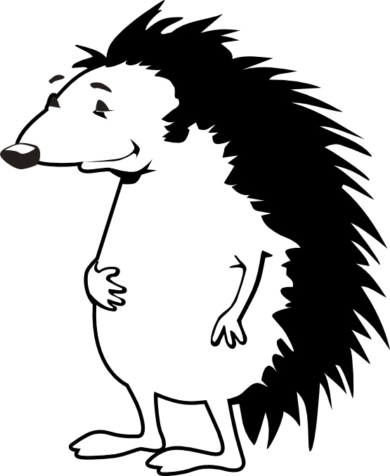 Hedgehog PNG Black And White - 48647