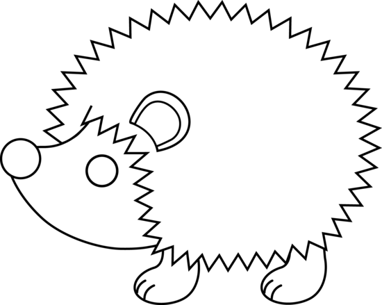 Hedgehog PNG Black And White - 48651