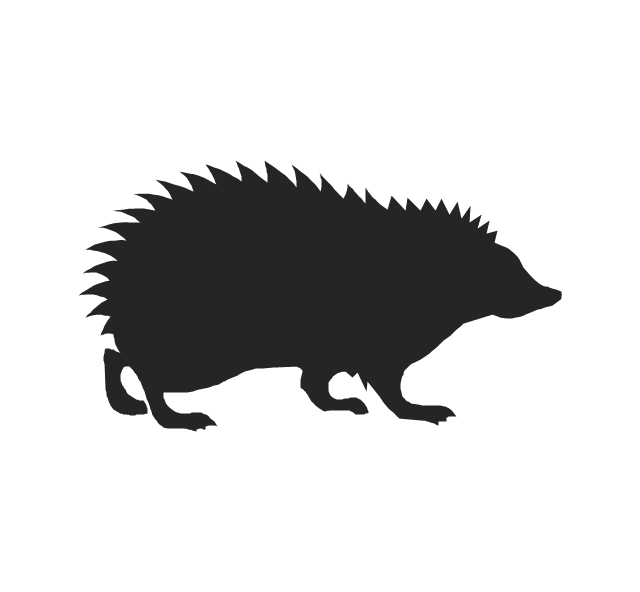 Hedgehog PNG Black And White - 48653