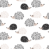 Hedgehog PNG Black And White - 48661