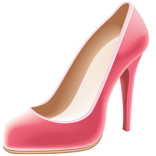 Pink high heel s - Heels PNG