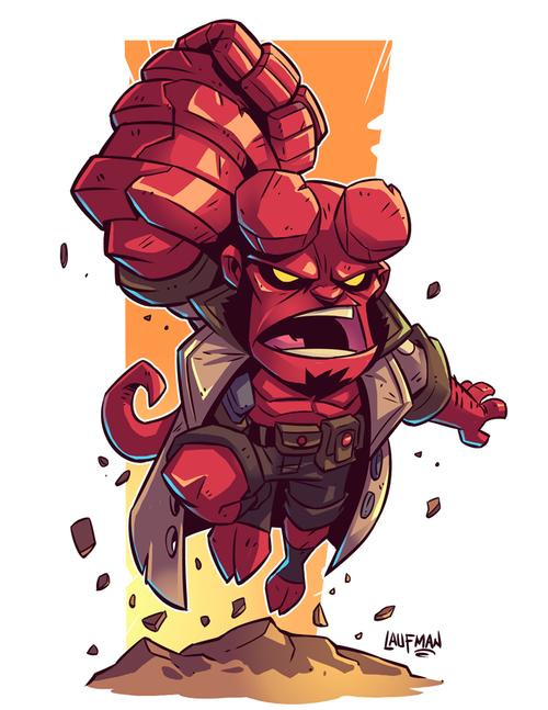 Hellboy-Print_8x10_sm.png - Hellboy PNG