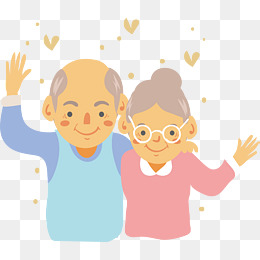a kindly old couple, Vector Png, Old Couple, Old Couple PNG and Vector - Helping Old Age People PNG