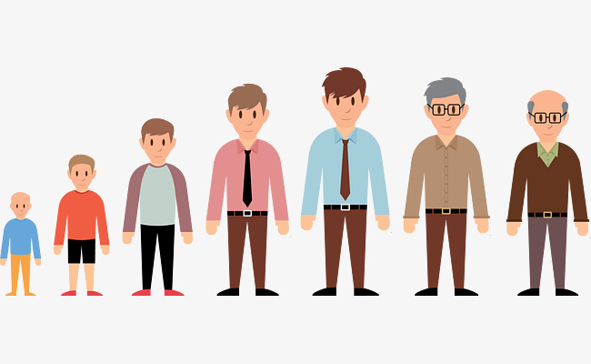boy to old man process, Boy, Youth, Old Age PNG and Vector - Helping Old Age People PNG