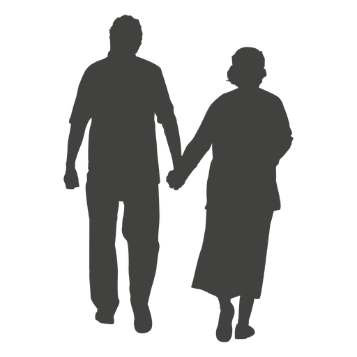Old age couple walking Transparent PNG - Helping Old Age People PNG