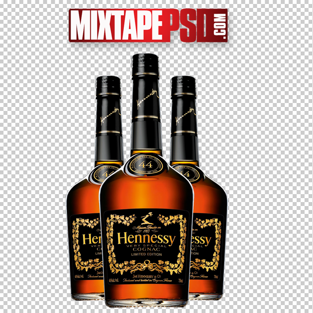 Free Hennessy Bottles PSD Template - Hennessey PNG