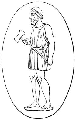 Greek god Hephaestus with hammer - Hephaestus PNG