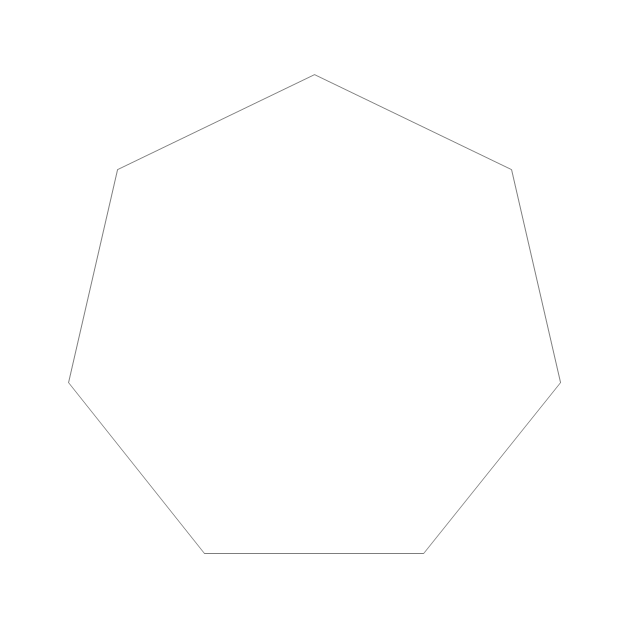 Regular heptagon, heptagon, - Heptagon PNG