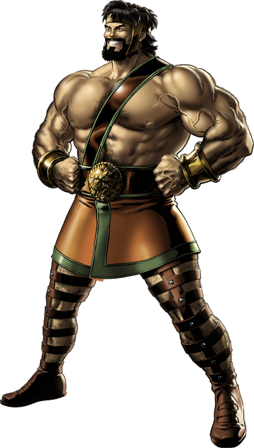 Hercules Right Portrait Art.png - Hercules PNG