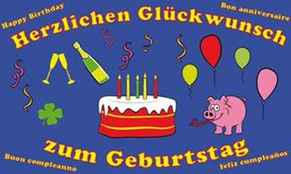 Flagge Herzlichen Glückwunsch zum Geburtstag - Herzlichen Gluckwunsch Zum Geburtstag PNG