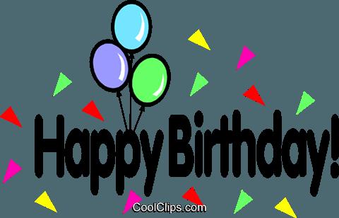 Herzlichen Glückwunsch zum Geburtstag! Vektor Clipart Bild - Herzlichen Gluckwunsch Zum Geburtstag PNG