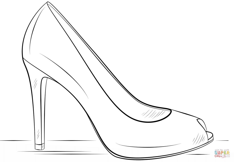 High Heel Outline PNG - 65906