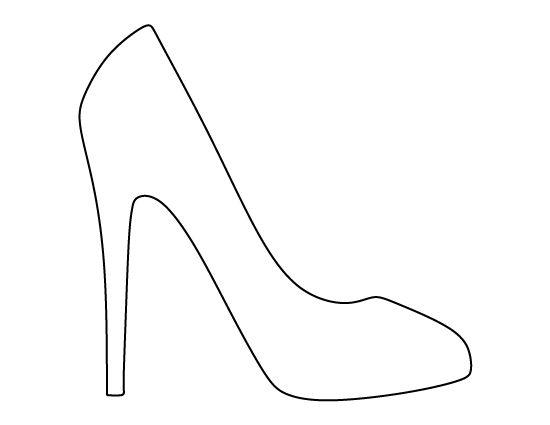 High Heel Outline PNG - 65900