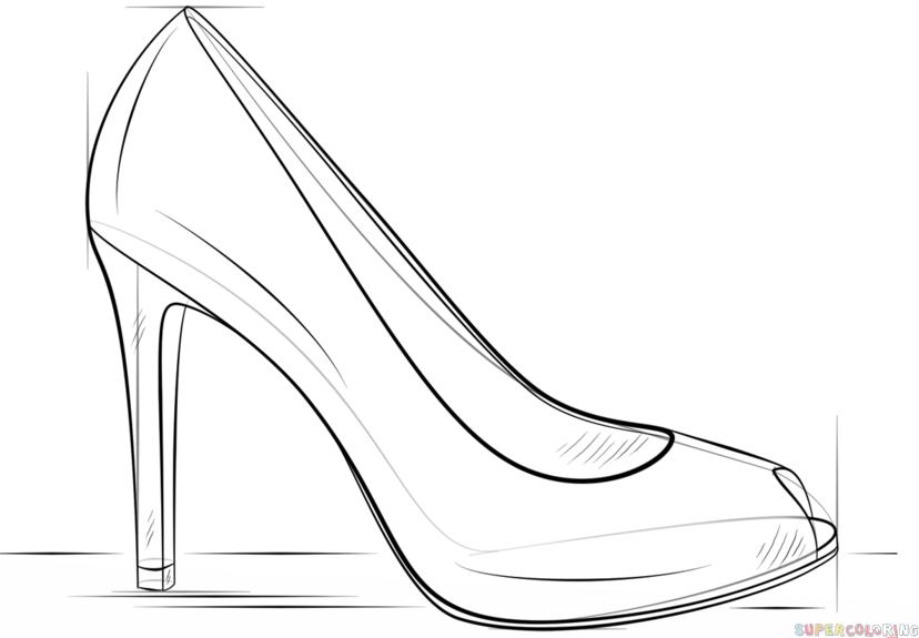 High Heel Outline PNG - 65904
