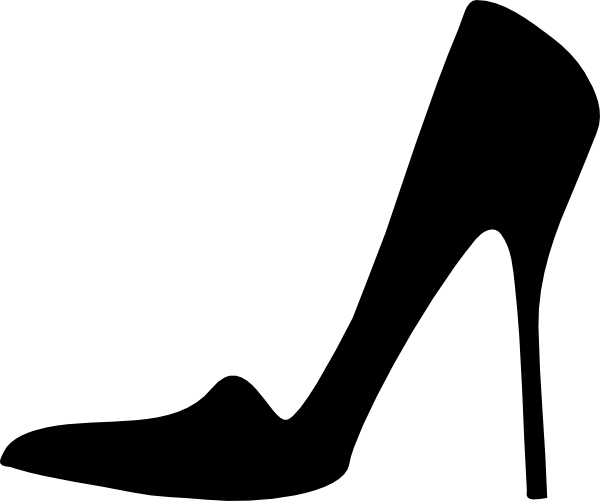 Clipart high heel shoes pluspng - High Heel Shoe PNG Black And White