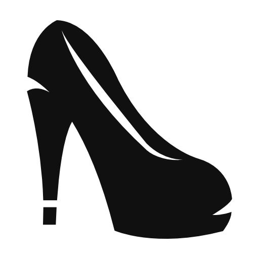 womenu0027s high heel icons - High Heel Shoe PNG Black And White
