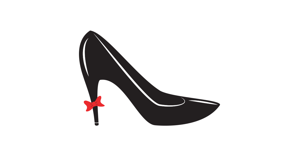 Women Shoes High Heel Vector File Free PNG Graphic Cave - High Heel Shoe PNG Black And White