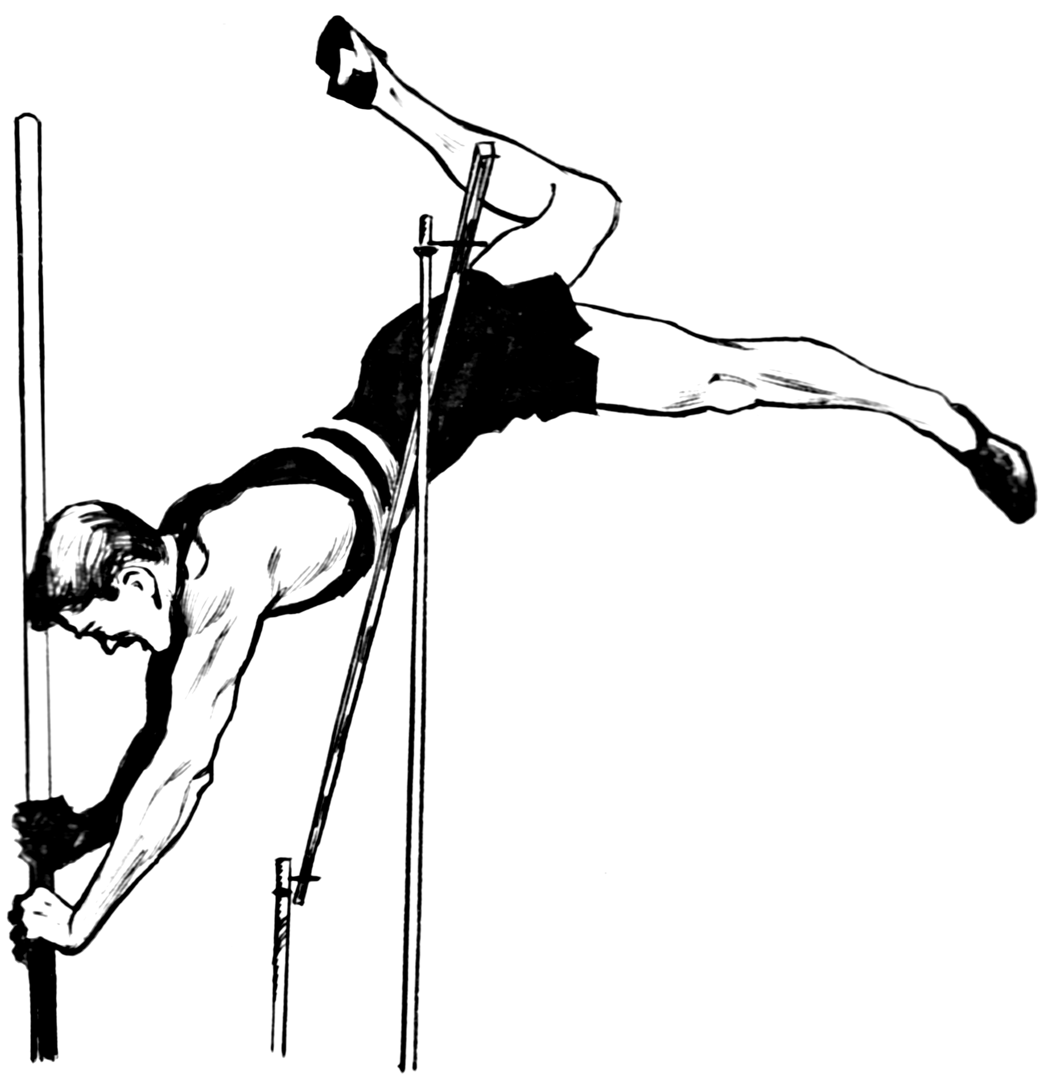 File:Pole vault (PSF).png - High Jump PNG Black And White