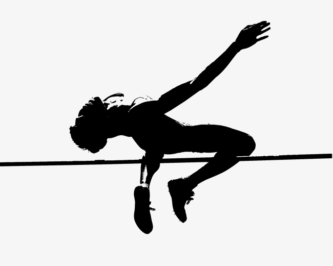high jump,silhouette, High Jump, Silhouette, Motion PNG and PSD - High Jump PNG Black And White