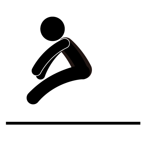 Long Jump Clipart - High Jump PNG Black And White